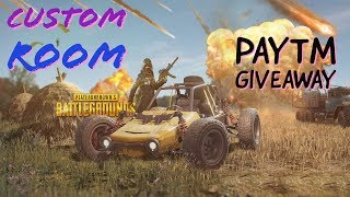[Hindi] PayTm Giveaway |  PUBG Mobile Live Stream: Airdrop hunt | Rank Pushing | Custom Room #6