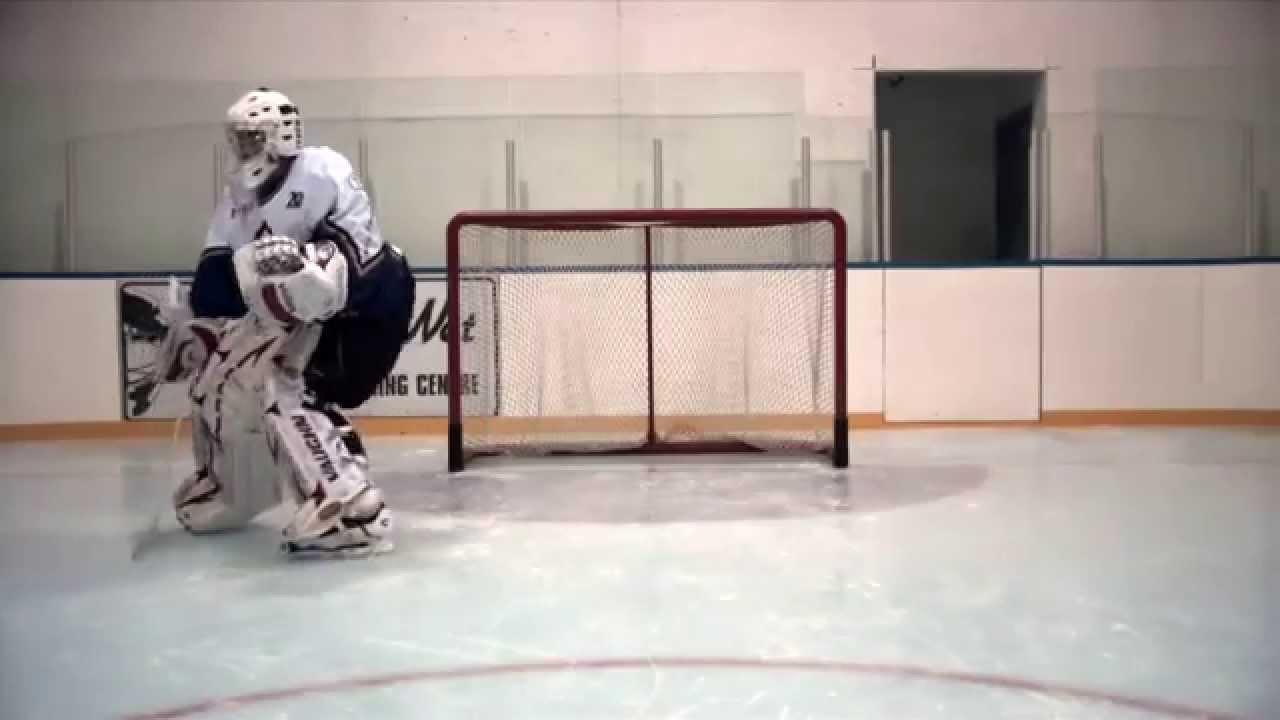 Butterfly Slide Ice Hockey Goalie Training Youtube