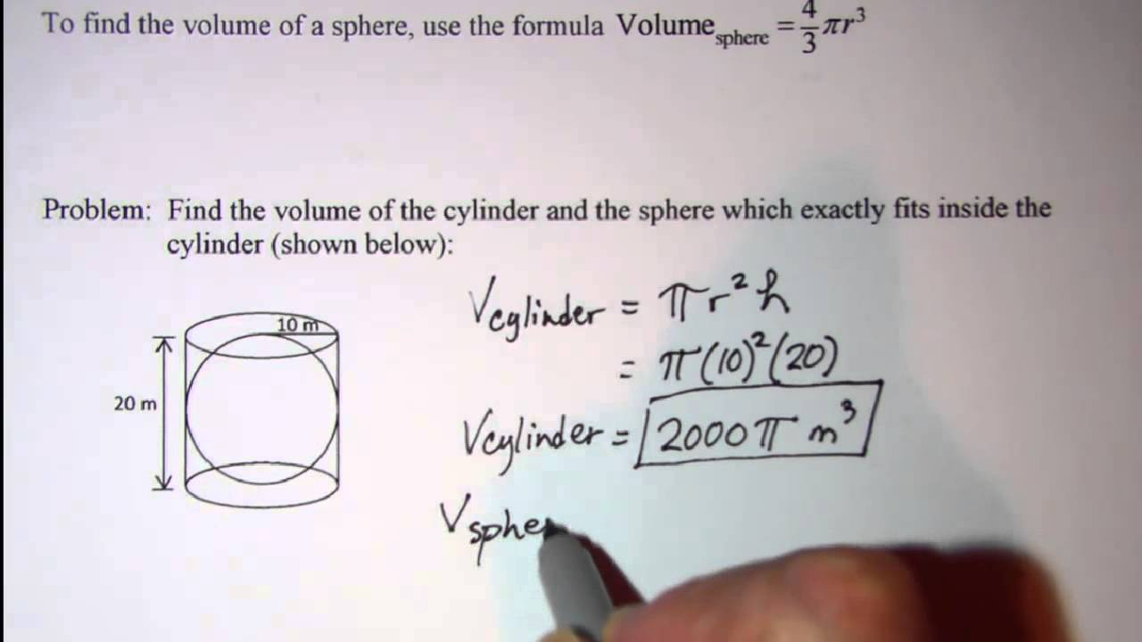Volume Of A Cylinder And A Sphere