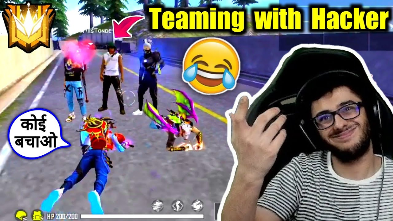 Teaming With Hacker on Grandmaster😂🔥Rarest Moment - Garena Free Fire!!