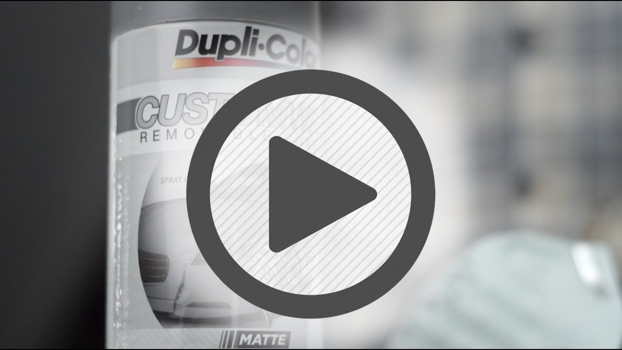 Dupli-Color Custom Wrap Removable Paint Jet Gray - Pep Boys - YouTube