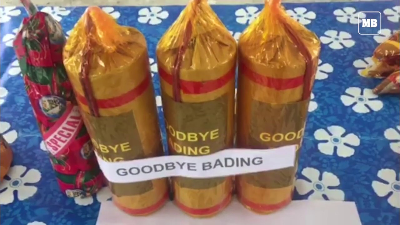 Confiscated illegal firecrackers in Bulacan Province