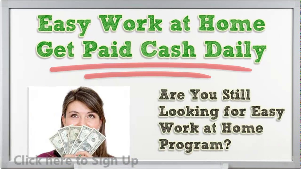 Easy Work at Home - Email Processing Jobs