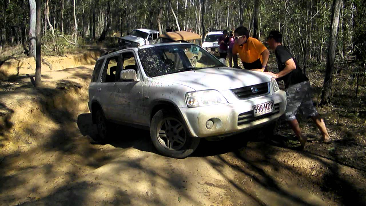 Crv Off Road >> 4x4 Offroad Honda crv bottomed out on tough terrain by girls. - YouTube