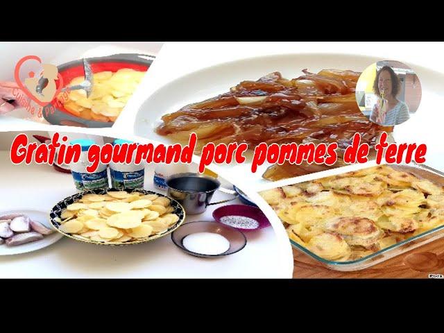 Gratin Gourmand Rôti De Porc Pomme De Terre 3 Échalotes Confites