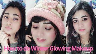 ⛄❄Winter Glowing Makeup  Lipstick as a Eyeshadow Or blush