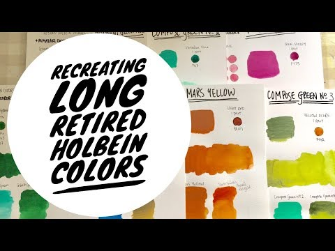 Recreating Long Retried Holbein Colors | Watercolor Paint Dupes