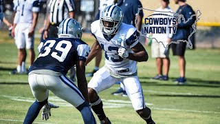 Cowboys Camp WR vs DB 1 on 1's 🎥Byron and Tavon Battle🔥