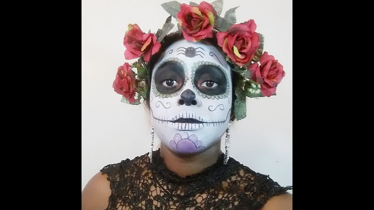 DIY Costume: Sugar Skull Halloween Tutorial - YouTube