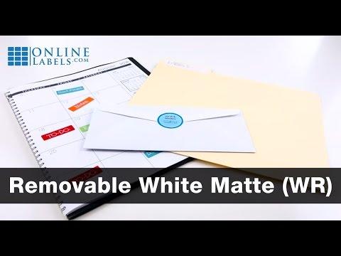 Removable White Matte Labels