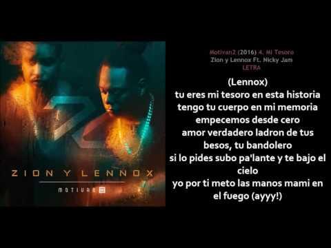 Mi Tesoro -  Zion y Lennox Ft  Nicky Jam (Letra)