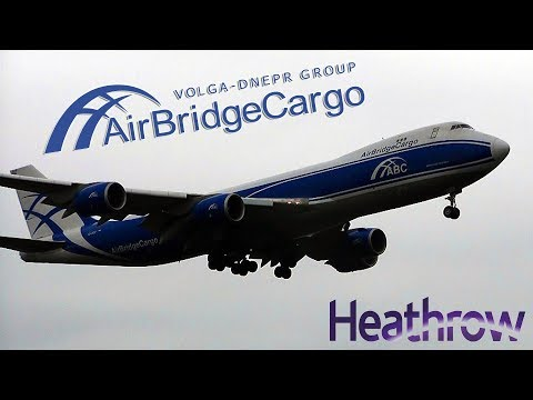 AirBridgeCargo Airlines Boeing 747-8F Landing at London Heathrow Airport (LHR/EGLL, with ATC)