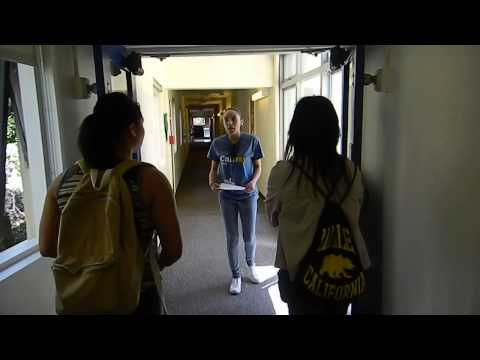 Video of tour of dorm at UC Berkeley on Cal-day 2015