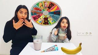 Dondurma Meyve Süt Challenge Oyunu تحدي عصير الفواكه المثلج بعجلة الحظ الغامضة مع