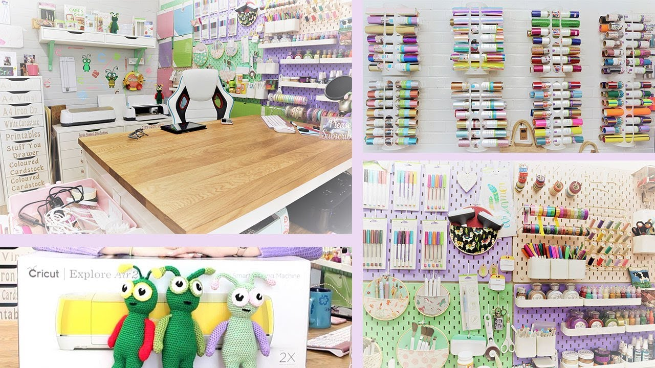 Cricut Craft Room Makeover 2019 #cricut #cricutcraftroom #craftstorage