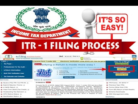 How to file online ITR for salaried person for AY 2017-18 (