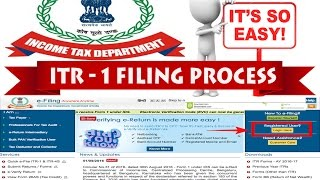 How to file online ITR for salaried person for AY 2017-18 ( in Hindi)
