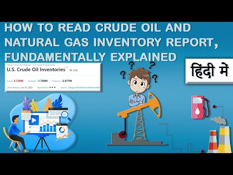 How to read crude oil and Natural Gas inventory report, Fundamentally explained (Hindi, Urdu)