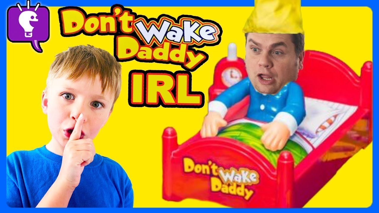 DONT WAKE DADDY! IRL Family Game CHALLENGE for Kids with HobbyKidsTV