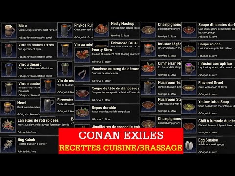 how to make soup conan exiles