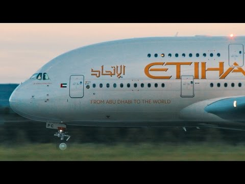 DIVERSION | Etihad A380 Takeoff Adelaide Airport - [A6-APC]