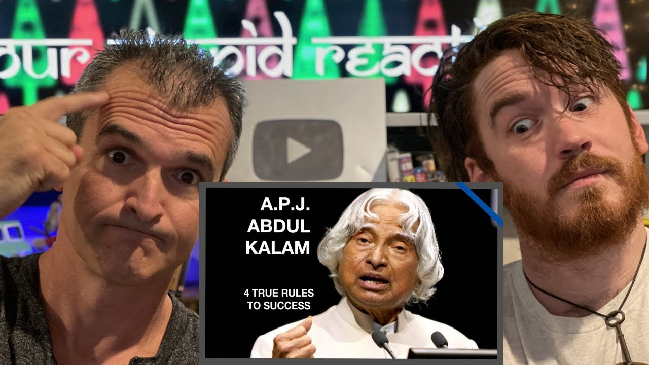 A. P. J. Abdul Kalam  |  The Most Inspiring Speech: 4 True Rules To Success REACTION!!