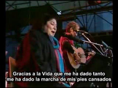 Gracias a la Vida - ES - Mercedes Sosa & Joan Baez - YouTube