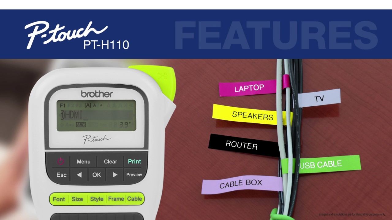 Easy Portable Label Maker Brother Pt H110 Youtube