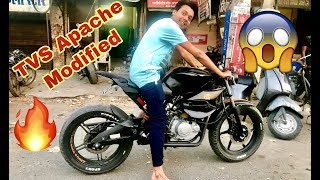 TVS Apache Modified  | 150 fat tyre in tvs apache  | only in 15000₹