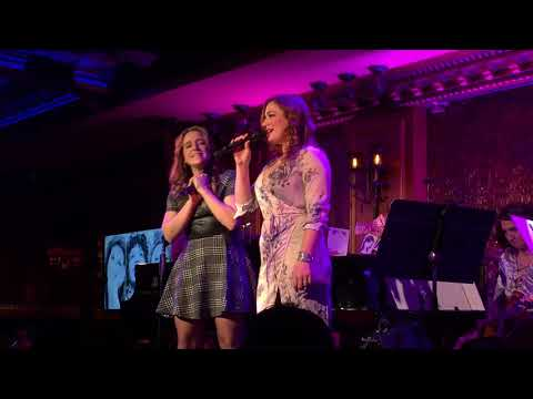 Laura Michelle Kelly and Jessica Vosk singing Celine Dion at 54 Below 11.7.17