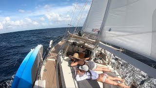 SLOW TV - ASMR - Sailing to Tobago - Sailing Vessel Delos
