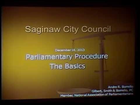 Saginaw City Council - Parliamentary Procedure
