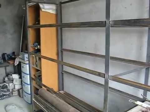Самодельный стеллаж в гараж.