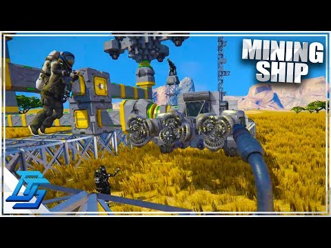 BUILDING MY FIRST MINING SHIP! - Space Engineers (2019)