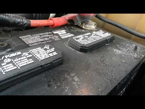 Smoking hot car battery