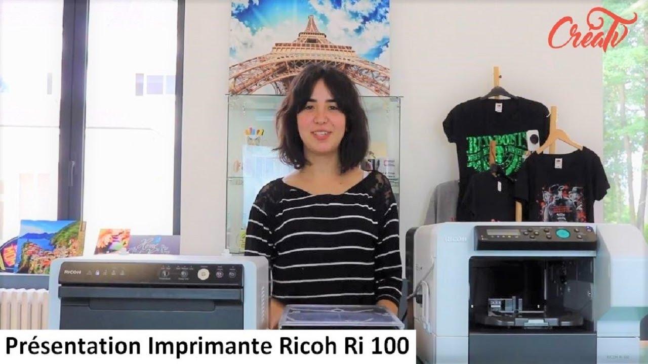 Ricoh Ri 100, imprimante directe sur textile