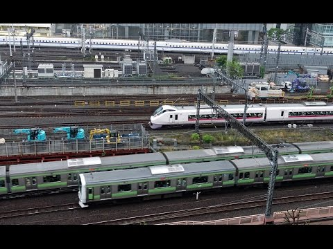 Rail Live. 東京駅 JR電車  Tokyo Station JR Trains & Shinkansen.