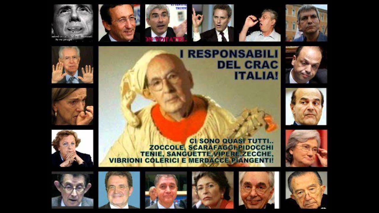 Basta alla presa per il culo dei politici italiani youtube for Lista politici italiani