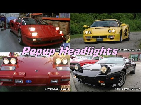Tribute To Pop Up Headlights Almost Every Car Made With Them Youtube