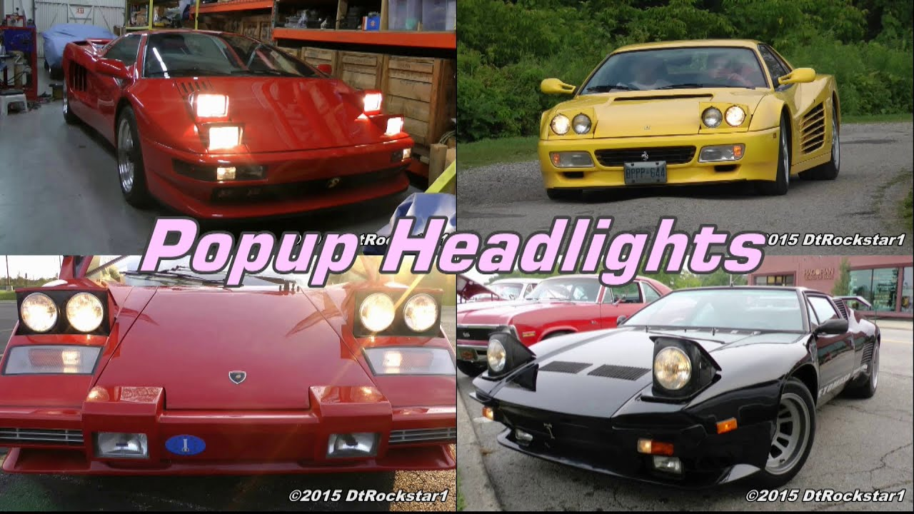 Tribute To Pop Up Headlights Almost Every Car Made With