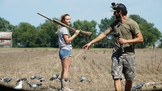 Wife Goes Pigeon Hunting For First Time
