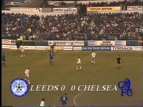 leeds united v chelsea  26th december 1990