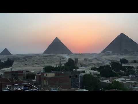 Giza Pyramids Sunset