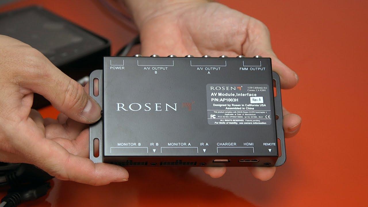 Rosen Av Headrest Dvd With Hdmi
