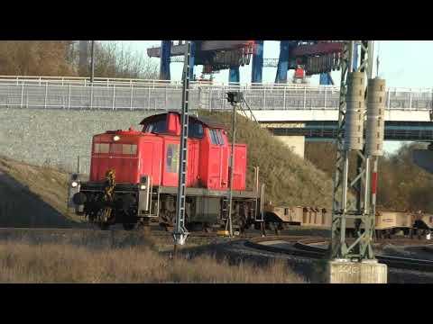 Güterbahnhof Altenwerder Hamburger Hafen Endstanden in verschieden und zum Teil Filmstellen in Bekan