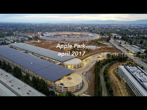 Apple Park (Apple Campus 2) - April 2017 update 4K