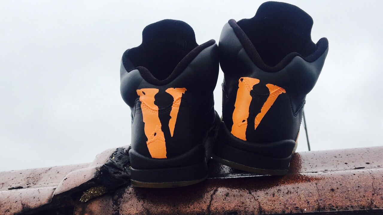 431fb13d120 HOW TO  CUSTOM JORDAN 5s ( VLONE ) - YouTube