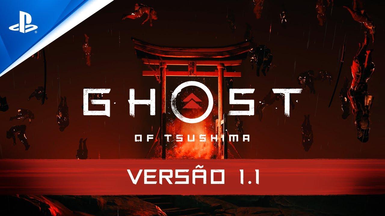 Ghost of Tsushima - Atualização Versão 1.1   PS4