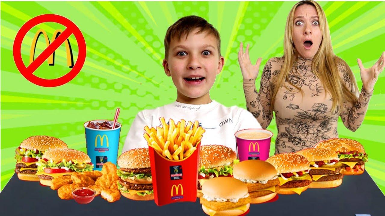 Мама ЗАПРЕТИЛА Вредную еду из Макдональдса! Тима обхитрил! Мама в шоке!