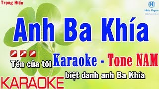 Karaoke Anh Ba Khía Tone Nam | Nhạc Sống | anh 3 khía karaoke beat nam